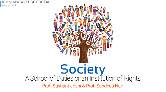 Society – A School Of Duties Or An Institution Of Rights